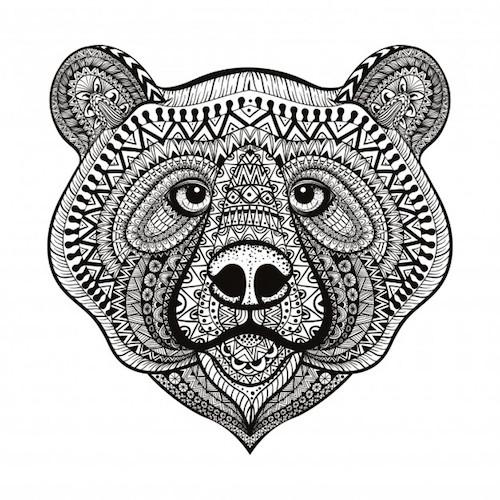 cara de oso para colorear