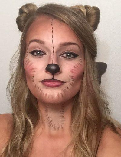 maquillaje de oso para mujer
