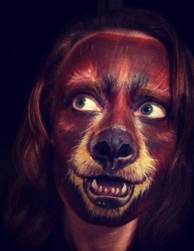 maquillaje de oso pardo