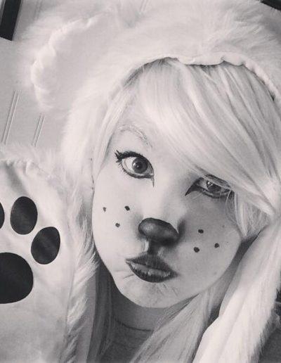 maquillaje de oso polar