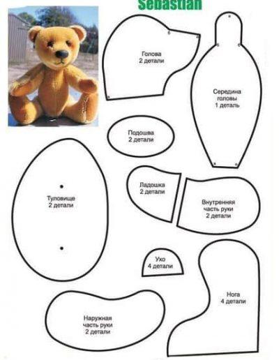 moldes de osos con corazon