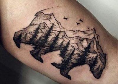 tatuajes de osos grizzly